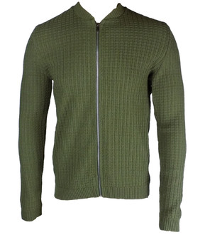 Ex As-s Mens Knitted Zip Front Jacket - £3.95