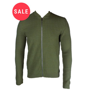 Ex As-s Mens Knitted Zip Front Jacket - WAS £3.95   NOW £2.50