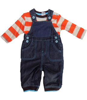 Ex HighStreet Baby Denim 2pce Set  - £3.95