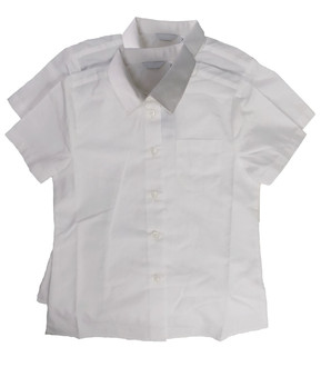 Girls white School Blouse 2 pack - £4.95