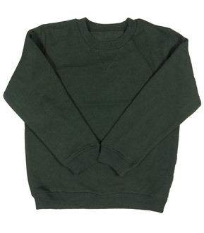 Ex Major Highstreet School Unisex Green Round Neck Jumper - £1.75