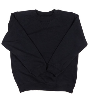 Ex Major Highstreet School Unisex Black Round Neck Jumper - £1.75