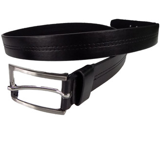 Men's Black Stitch Detail Belt  - £1.00