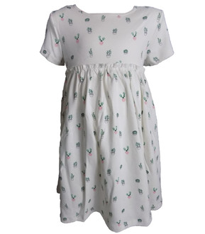 Ex Major High Street Childrens Plant Print Dress  -  £2.95