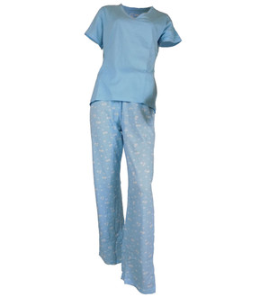 Ladies Blue Cherry PJ Set  - £4.95