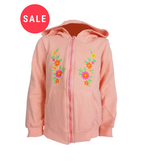 Ex N-xt Zip Up Embroidered Girls Hoodie - WAS £3.00   NOW £1.75