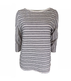 Ex M-S Ladies Striped Loose Fit 3/4 Sleeve T-Shirt - £3.50