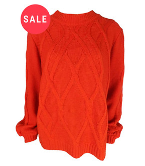Ex M&C-  Ladies Cable Knit Jumper - WAS £4.95   NOW £2.50