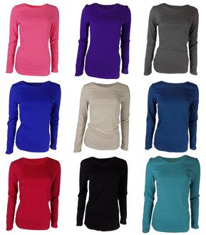 Ex Major High Street Ladies Crew Neck L/S Top - £2.25