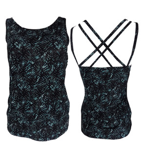 Ex N-xt Ladies Cross Back Black Sport Vest - £2.95