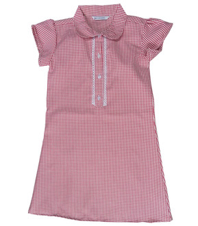 Ex M-S Girls Red Gingham School Dress  - £2.50