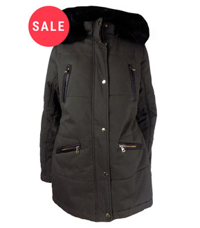 Ex N-w L-ok Ladies Faux Fur Hooded Parka Jacket - WAS £14.99   NOW £10.00