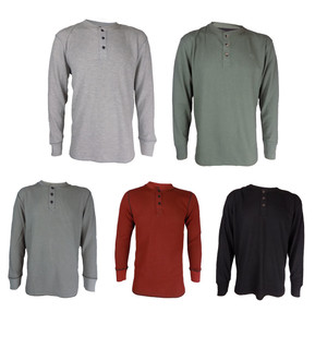 Ex Wrangler Mens Long Sleeve 1/4 Button Top  - £3.50