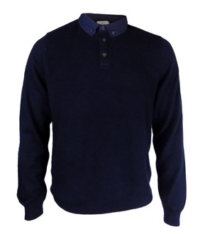 Ex M-S Mens Button Up Long Sleeve Polo - £4.50