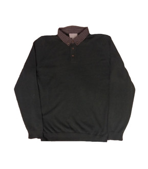 Ex M-S Mens Button Up Long Sleeved Polo - £4.50