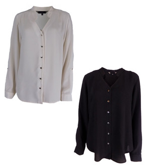 Ex Major High Street Ladies Button Front Blouses - £3.95