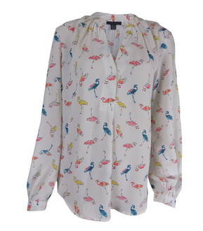 Ex Major High Street Ladies Flamingo Print Blouse - £3.95