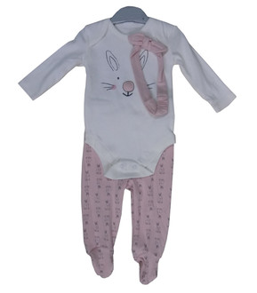 Ex Major High Street Baby Girl Bunny Set - £3.50