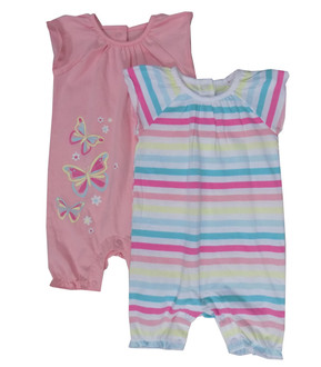 Ex Major High Street 2 Pack Baby Romper - £3.00