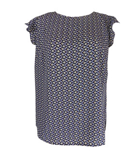 Ex Major High Street Ladies Printed Short Sleeve Blouses - £3.00