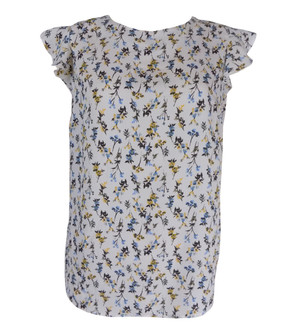 Ex Major High Street Ladies Flower Printed Short Sleeve Blouses - £3.00