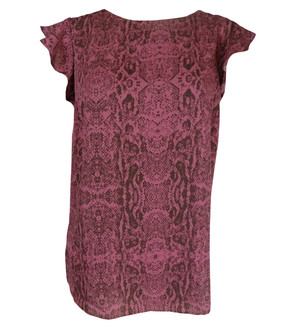 Ex Major High Street Ladies Snake Print Short Sleeve Blouse - £3.00