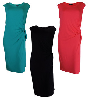 Ex M-S Ladies Side Knot Summer Dresses Assorted - £4.00