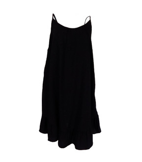 Ex M-S Ladies Black Summer Dress - £4.00