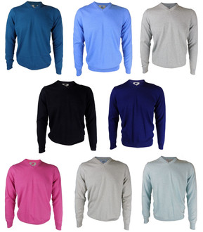 Ex M-S Mens V Neck Jumpers Assorted - £4.00
