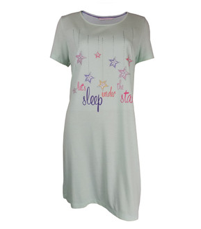 Ex Major High Street Ladies Mint Short Sleeve Nightdress - £4.25