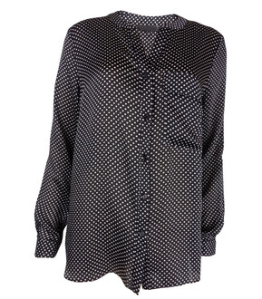 Ex Major High Street Ladies Long Sleeve Spotted Blouse - £3.95