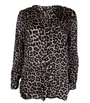 Ex Major High Street Ladies Long Sleeve Leopard Print Blouse - £3.95