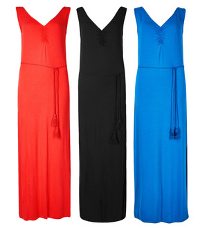 Ex M-S Ladies Assorted Ruched Front Slip Maxi Summer Dresses - £4.95