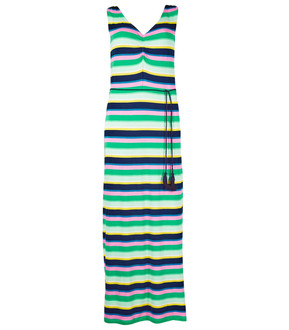 Ex M-S Ladies Striped Ruched Front Slip Maxi Summer Dresses - £4.95