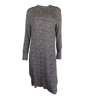 Ex M-S Ladies Leopard Printed Long Sleeve Swing Dress - £4.00