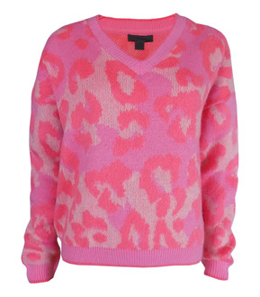 Ex Major High Street Ladies V Neck Animal Print Jumper - £3.75