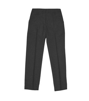 Ex M-S Boys Slim Leg With Length Options Grey School Trousers - £2.50
