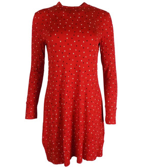 Ex M-S Ladies Printed Long Sleeve Swing Dress - £4.00