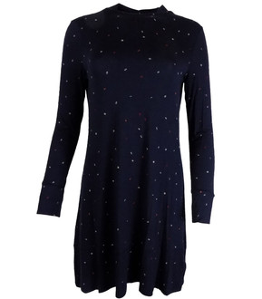 Ex M-S Ladies Alphabet Printed Long Sleeve Swing Dress - £4.00