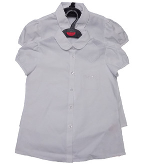 Ex M-S Girls School Cap Sleeve Blouse Twin Pack  - £4.00