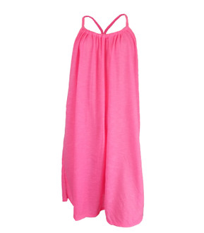 Ex Major High Street Ladies Pink Summer Beach Dress - £2.50