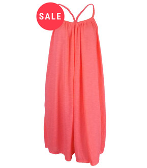 Ex Major High Street Ladies Coral Summer Beach Dress - WAS £2.50   NOW £1.50