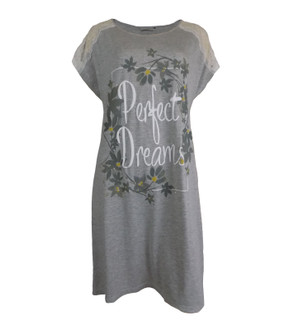 Ex Major High Street Ladies Grey Short Sleeve Nightdress - £3.75