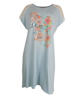 Ex Major High Street Ladies Aqua Short Sleeve Nightdress - £3.75