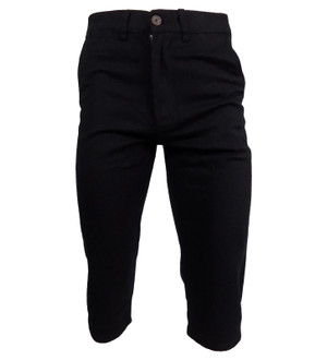 Ex Major High Street Men's Long Black Denim Shorts - £4.50