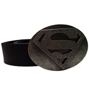 Men's Black Superman Character Belt  - £3.00