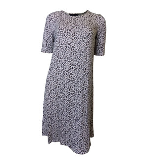Ex M-S Ladies Leopard Pattern Short Sleeve Swing Dress - £4.00