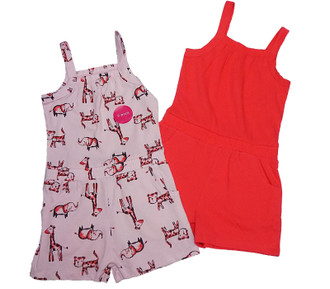 Ex Major Highstreet Girls Twin Pack Playsuit  -  £3.50