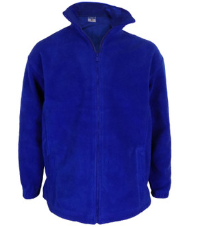 High Quality 400gsm Zip Up Fleece Royal Blue - £3.00