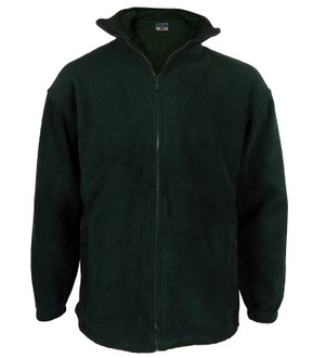 High Quality 400gsm Zip Up Fleece Bottle Green - £4.50